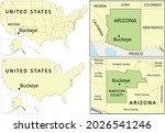 buckeye city location on usa ... | Shutterstock .eps vector #2026541246