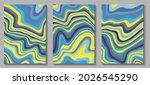 fluid art. modern artwork mesh... | Shutterstock .eps vector #2026545290