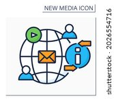 social networks color icon....   Shutterstock .eps vector #2026554716