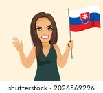 attractive brunette slovakian... | Shutterstock .eps vector #2026569296