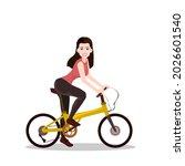 a beautiful girl standing on... | Shutterstock .eps vector #2026601540