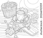 coloring book for adults. black ... | Shutterstock .eps vector #2026693559