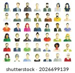 large group of people portrait  ... | Shutterstock .eps vector #2026699139