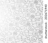 pattern with web icons at light ... | Shutterstock .eps vector #202671940