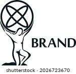 simple atlas logo design... | Shutterstock .eps vector #2026723670