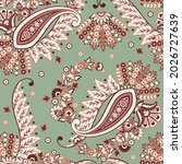 seamless pattern with paisley... | Shutterstock .eps vector #2026727639