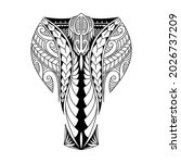 the polynesian tattoo on the... | Shutterstock .eps vector #2026737209