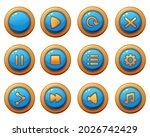 menu button vector game...