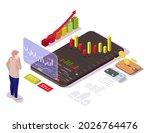businessman buying or selling...   Shutterstock .eps vector #2026764476