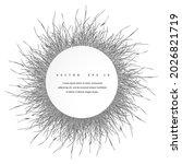 abstract 3d circle papercut... | Shutterstock .eps vector #2026821719