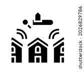 neighborhood in area glyph icon ... | Shutterstock .eps vector #2026829786
