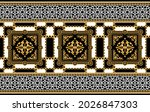 seamless pattern decorated with ... | Shutterstock .eps vector #2026847303