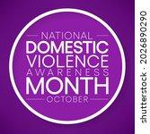 domestic violence awareness...   Shutterstock .eps vector #2026890290