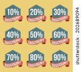 flat vintage discount badges | Shutterstock .eps vector #202689094
