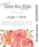 save the date vector template... | Shutterstock .eps vector #202694020