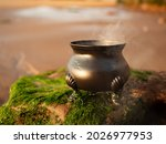 Witches Cauldron Burning A...