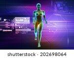 female human body | Shutterstock . vector #202698064