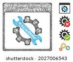 mesh settings tools calendar...   Shutterstock .eps vector #2027006543