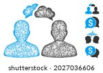mesh persons dialog web icon...   Shutterstock .eps vector #2027036606