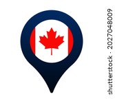 canada flag and map pointer... | Shutterstock .eps vector #2027048009