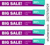 big sale. banners indicating...