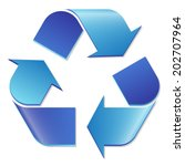 Recycling Symbol Blue