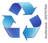 Recycling Symbol Blue
