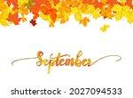 september greeting card...   Shutterstock .eps vector #2027094533