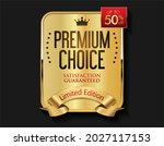 luxury gold and red badge... | Shutterstock . vector #2027117153