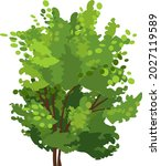 abstract tree with green crown...   Shutterstock .eps vector #2027119589