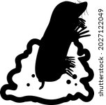 black silhouette with cartoon...   Shutterstock .eps vector #2027122049