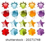 festive glassy icons isolated   ... | Shutterstock . vector #20271748