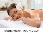 young vietnamese woman enjoying ...   Shutterstock . vector #202717969