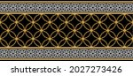seamless pattern decorated with ... | Shutterstock .eps vector #2027273426