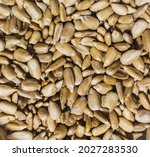 Peeled Sunflower Seeds In Close ...