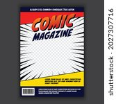 vector awesome comic book cover ... | Shutterstock .eps vector #2027307716