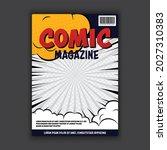 vector comic template book... | Shutterstock .eps vector #2027310383