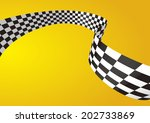 checkered stripes 3d | Shutterstock .eps vector #202733869
