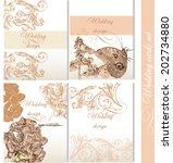 set of floral brochures in... | Shutterstock .eps vector #202734880