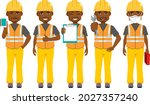 young black african male... | Shutterstock .eps vector #2027357240