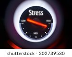High Levels Of Stress Concept...