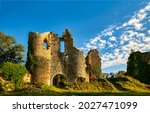 Ruins of a medieval castle....