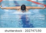 professional swimmer in cap... | Shutterstock . vector #202747150