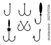 hook set icons | Shutterstock .eps vector #202747534