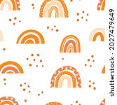 seamless pattern with rainbows... | Shutterstock .eps vector #2027479649