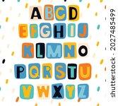 alphabet for children in a... | Shutterstock .eps vector #2027485499