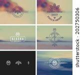 trendy retro vintage insignias... | Shutterstock .eps vector #202750306