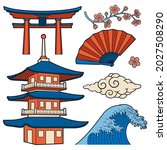 japanese cartoon vector... | Shutterstock .eps vector #2027508290