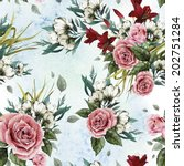 seamless floral pattern with... | Shutterstock . vector #202751284
