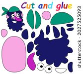 cut and glue pirate game vector ... | Shutterstock .eps vector #2027525093